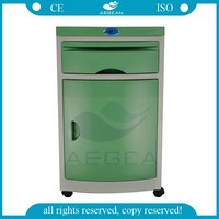Hot sale!! AG-BC005D CE&ISO green hospital bedside cabinet