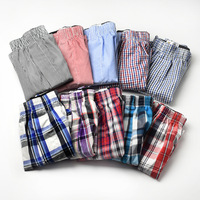 Men's Exposed Waistband Woven Fashion Cotton Boxer shorts with high quality