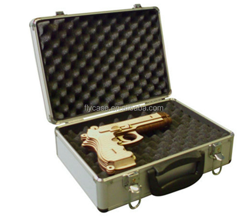 customized different size aluminum <strong>hard</strong> gun <strong>case</strong> with lockable and high quality