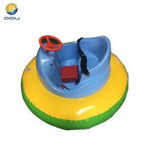 amusement park game battery powered inflatable bumper boat for adult