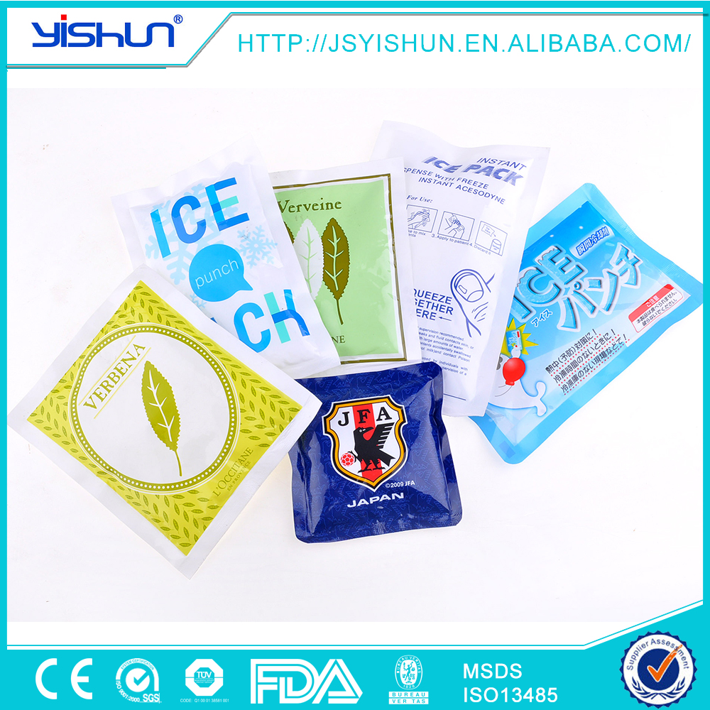 PE+PA instant ice packs for body