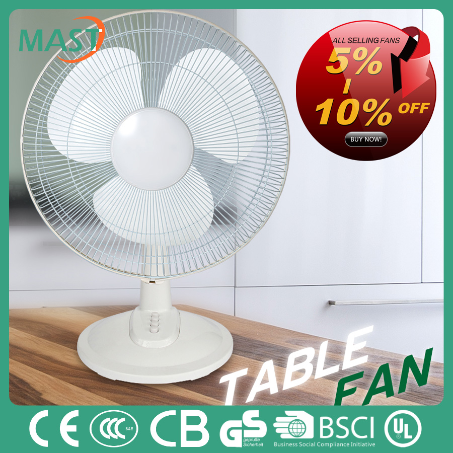 Solar rechargeable 16''electric fan motor/table fan desktop air cooling fan cheap price with CB/RoHS certificate