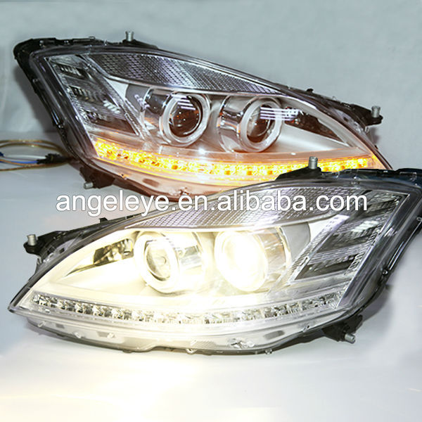 For Mercedes-Benz W221S350 S500 S600 Headlight With D1S HID Kit Bulit in 2006-2008 Chrome Color LF
