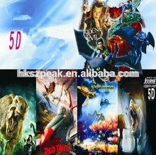 Hot sale amusement park ride 7D 9D outdoor games animation 5D cinema movie 6D thriller motion films 7D horror movies