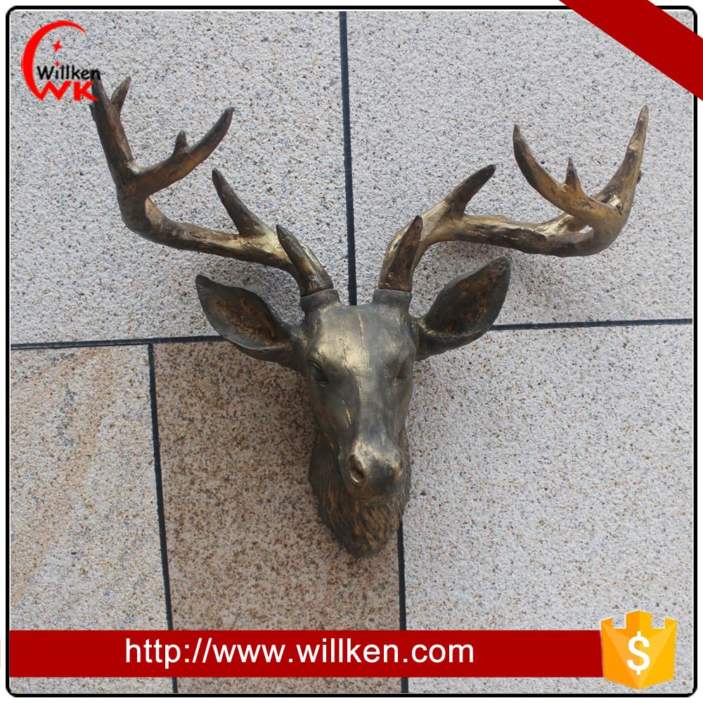 Venta al por mayor de f brica montado en la pared de la - Cabeza de ciervo decoracion ...