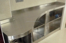 custom design stainless steel shelf 304 stainless steel kitchen cabinet