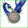 Old Sports Medal With Ribbon Custom Metal Medals And Souvenir Coin