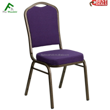 Cheap Iron Metal Hotel Restaurant Furniture Stackable Fabric Banquet Dining Chair
