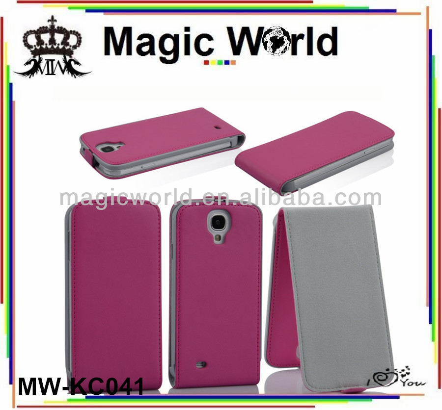 For samsung s4 flip leather case cover