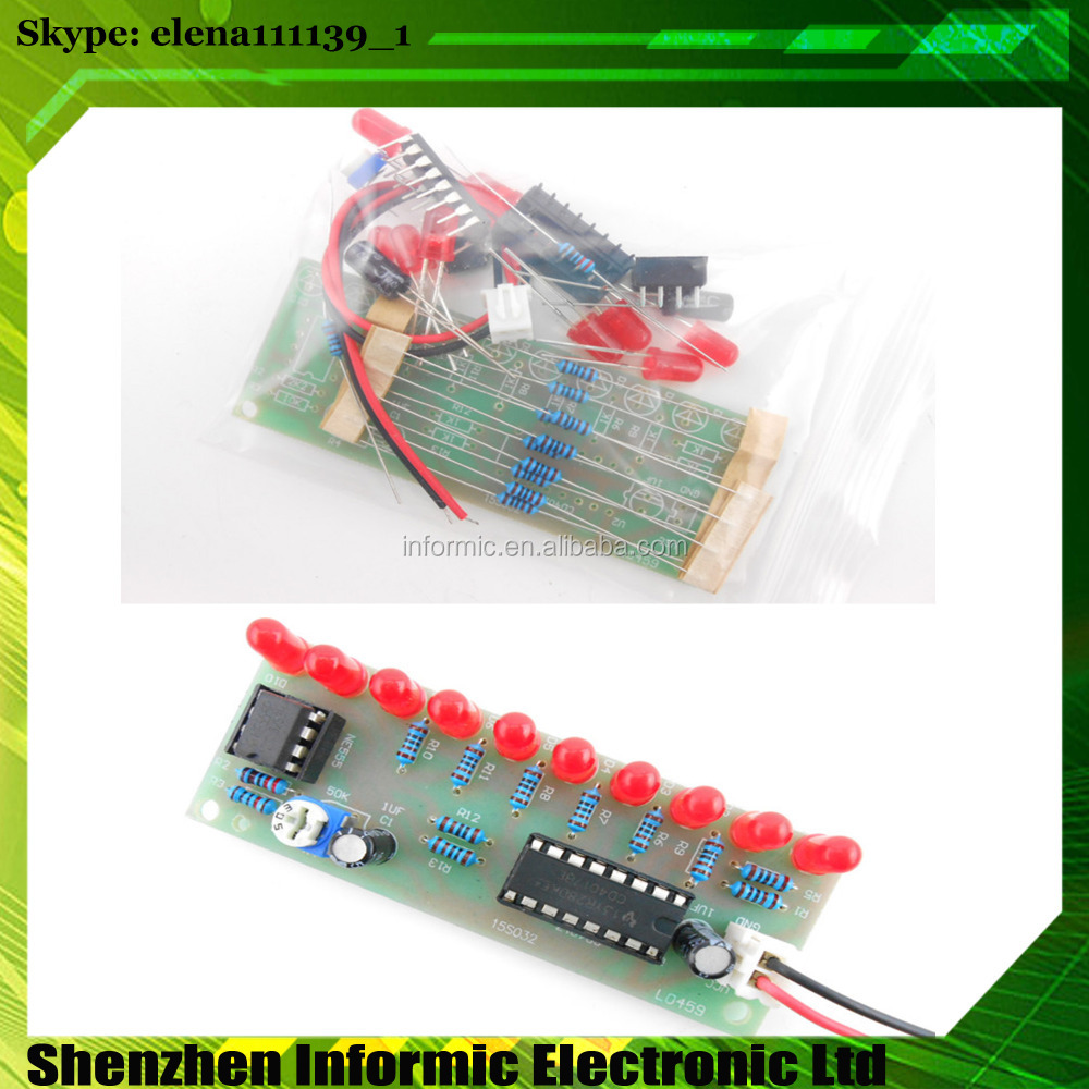 NE555 + CD4017 10 road running water light kit DIY electronic component parts