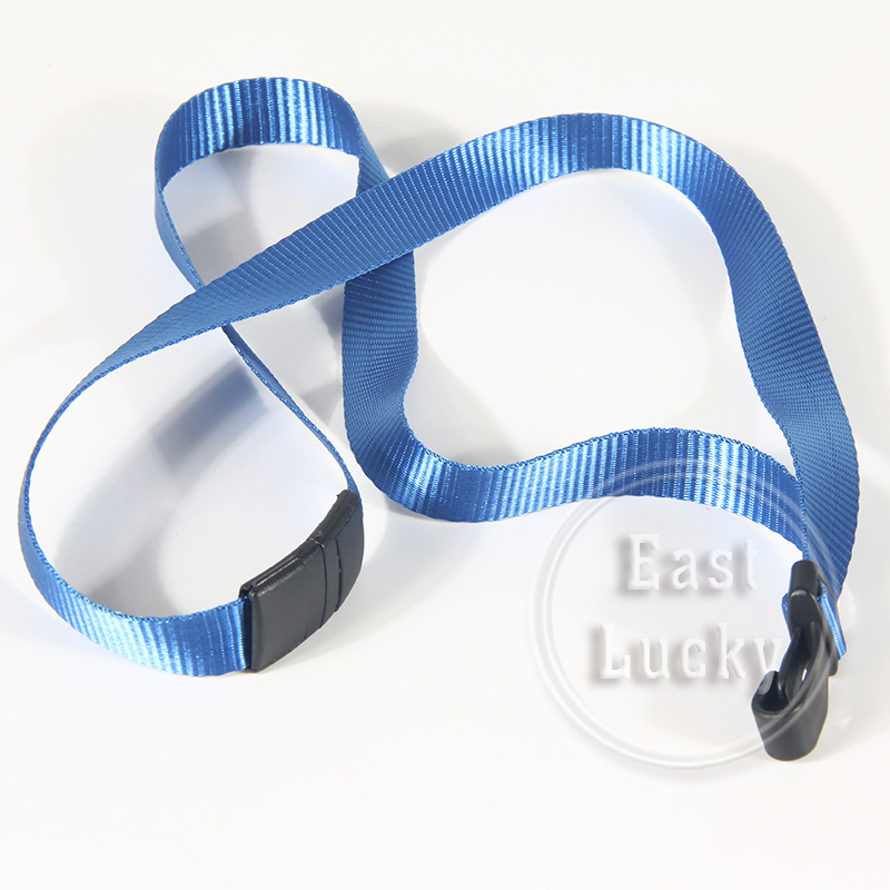 Cell phone keyholder blue safety/breakaway lanyard with pass holder