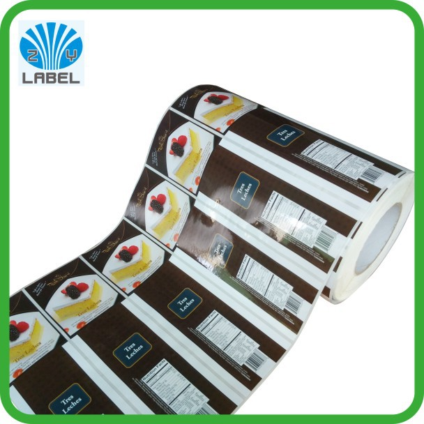 Cheap food labels printing with high quality