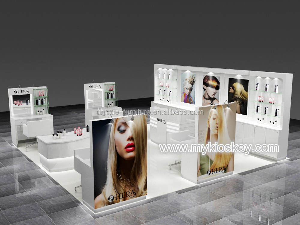 Luxury fashion design beauty hair salon furniture for kiosk shop equipment