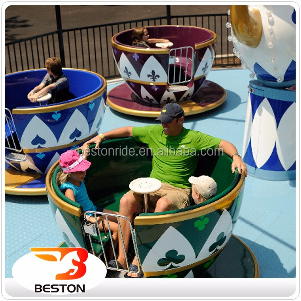 fairground rotating amusement fiberglass kiddie ride tea cup rides for sale