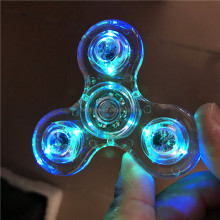 Light hand spinner fidget spinner toy educational toys led flashing hand fidget spinner toy