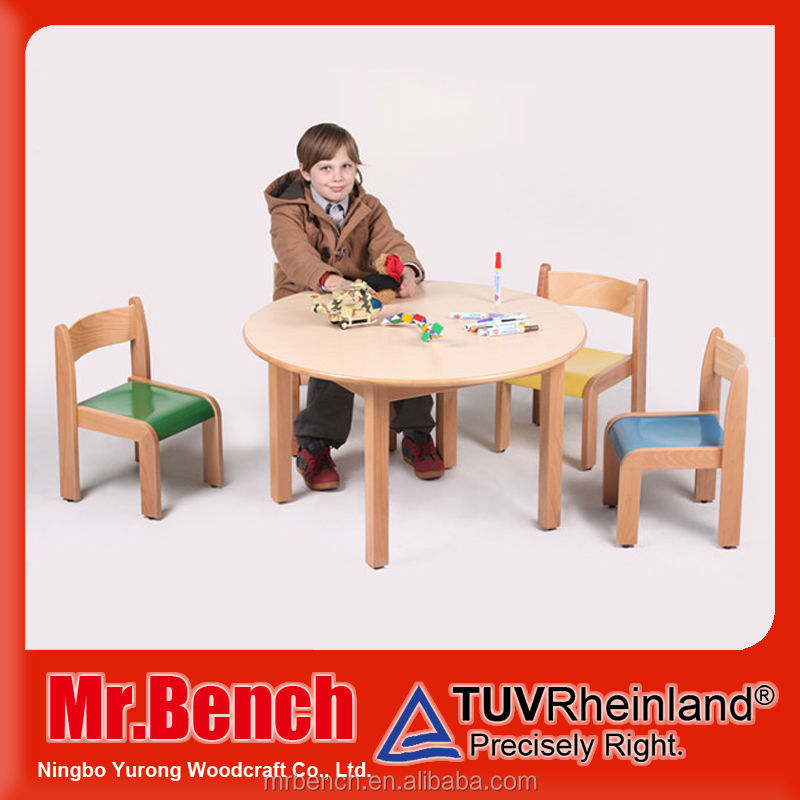 Children wooden round table, kids furniture factory, zhejiang manufacturer