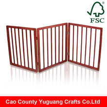 Indoor Home Office Use Foldable Free Standing Wooden Pet Gate