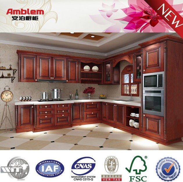 2016 NEW red classical PVC kitchen cabinet