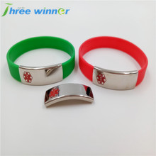 Promotional Cheap Silicone Charm Bracelet men with Medical logo