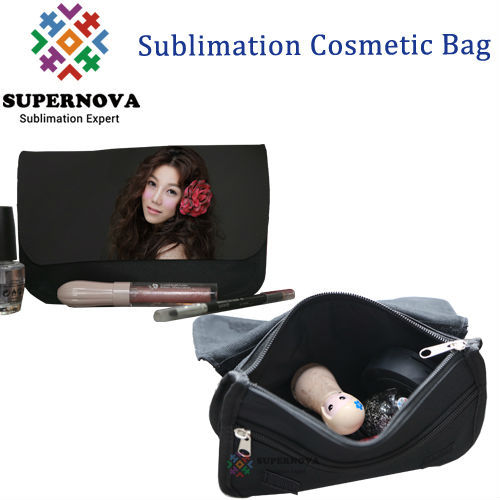 Printable Cosmetic Case ,Sublimation Canvas Cosmetic Bag