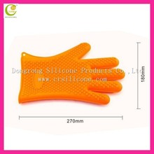 Silicone industrial high temperature oven mitts and fashionable fda durable embroidered cute glove mini funny oven mitts