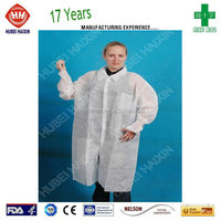 Unisex Adult Non-woven Disposable Lab Coat Isolation Gowns Smocks