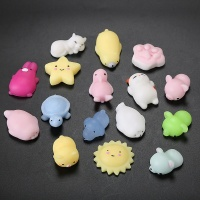 Wholesale CE EN71 Stretchy Anti Stress Relief Custom Animal Unicorn Cat Set Soft Capsule Toy Squeeze Kawaii Toys Mochi Squishy