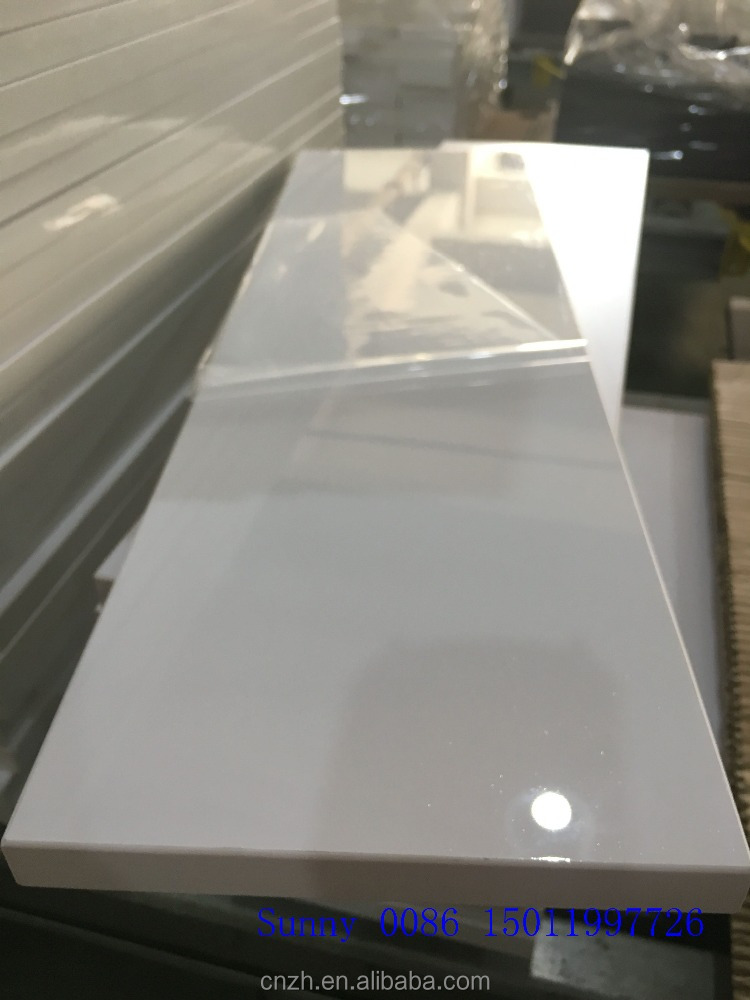 Laminate white melamine acrylic kitchen cabinet doors cheap foshan factory