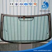 High quality safety transparent tempered auto car glass, car front glass price