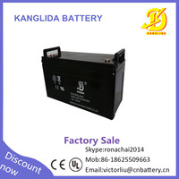 Kanglida 6fm 12v 120ah Valve regulated inverter dry batteries for ups