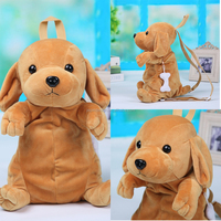 New Arrival Soft Cartoon Plush Toy Dog Bag For Kids
