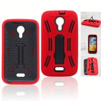 robot shell heavy duty defender combo hybrid case For zte radiant Z740