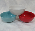 6 inch solid color glaze stock ceramic cheap bowl