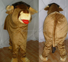 Good ventilation short fur 2 person cow mascot costume fit all adult unisex 2 person cow mascot costume