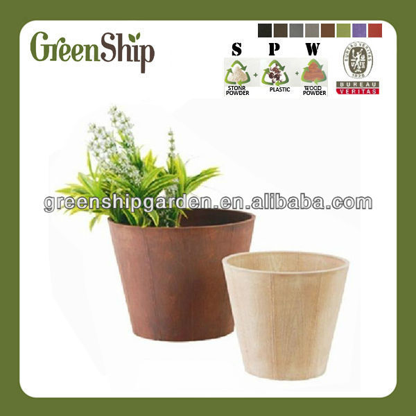 Decorative Plastic Unique Bonsai Pot/ 10 years lifetime/UV protective/lightweight/ waterproof
