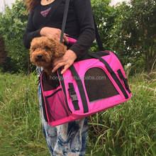 Large Soft Sided Pet Carrier Comfort Airline Approved Travel Tote Shoulder Bag for Small Dogs Cats Small Animals Tote bag