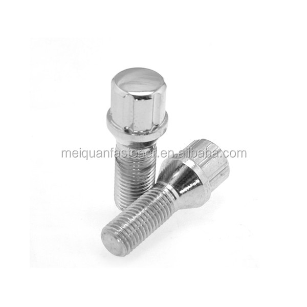 China fastener factory stainless steel 304 auto special M6 titanium wheel bolt