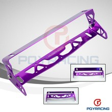 PQY STORE- MUGEN CAR UNIVERSAL ALUMINUM LICENSE PLATE FRAMES FRAME TAG HOLDER FOLDABLE PQY-LPF71 Red,Blue,Purple,Black
