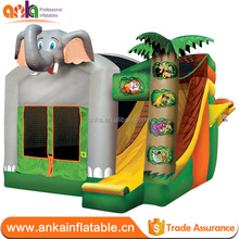 Small size animal design cheap indoor inflatable elephant bouncer for kids