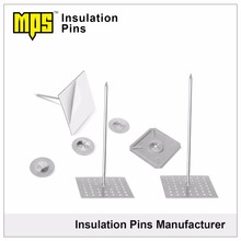 Factory Directly Supply Metal Self Adhesive perforated base Rock Wool Insulation Fixing Pin Belong Hvac System Parts