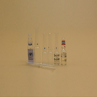 Custom ampoule glass ampoule bottle with paper medicine box