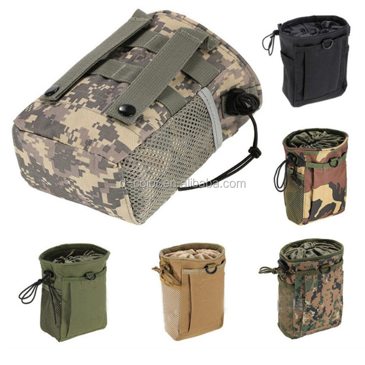 6 Colors Waterproof outdoor sports Waist Belt Pouch Drawstring camping Bag Military Recycle Tactical Pouch