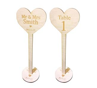Laser Cutting Table Numbers 1-20 Wooden Wedding Table numbers With Holder Base