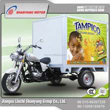 The three wheels tricycle with cabin for selling fast food and ice cream 150CC 200CC