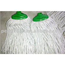 cotton/microfiber mop head with plastic socket