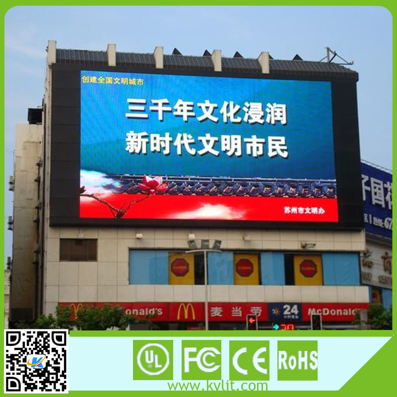 Large led tv advertising screen black lamp P6 led display screen outdoor