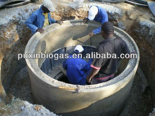 Change sewage pond or septic tank to biogas digester