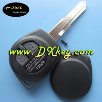 2 buttons remote car key with ID46 chip and 433Mhz for suzuki smart key suzuki sx4 remote key