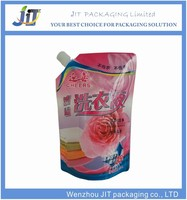 china manufacturer custom liquid detergent spout bag