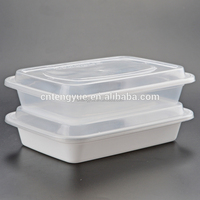 Disposable custom printed food plastic transparent pp container lunch box
